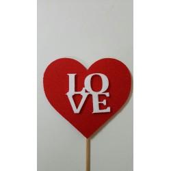 love en corazón rojo