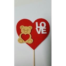 corazón y oso